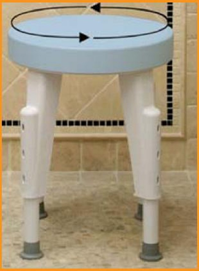 Rotating Round Shower Safety Stool