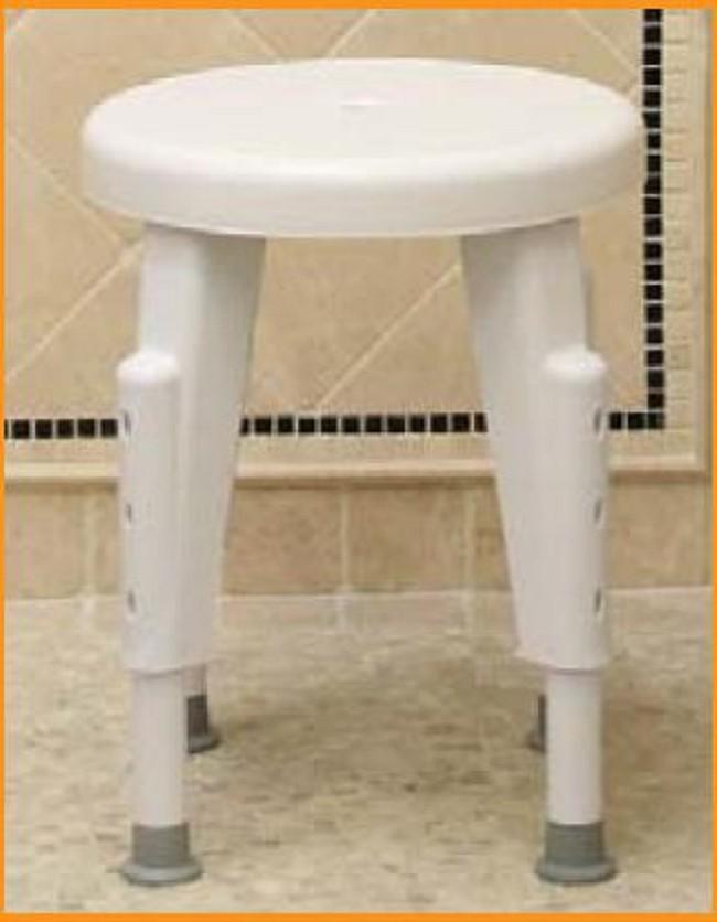 Ableware Height Adjustable Round Shower Stool