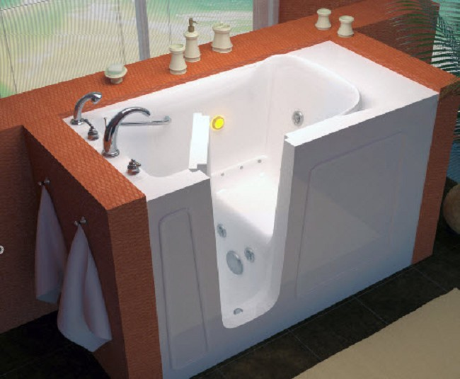 Hawk Walk-in 26 x 53 x 38 Soaking Massage Bathtub