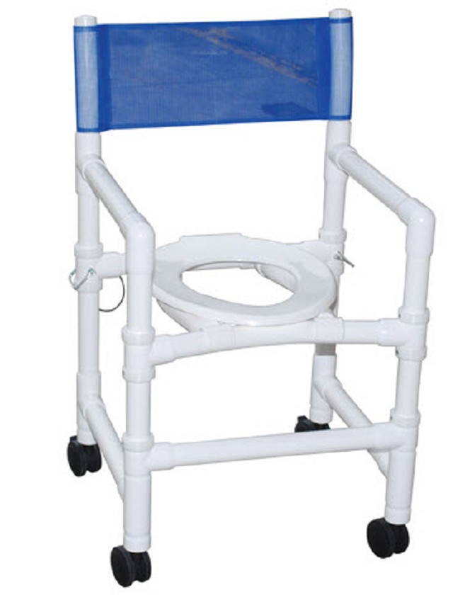 Folding PVC Shower Chair with Commode Opening