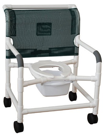 26 Inch Extra Wide Shower Commode Chair