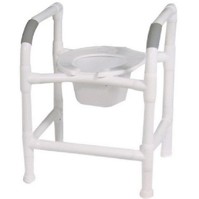 in 1 Commode Seat with PVC Safety Rails