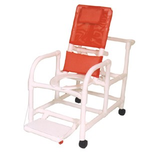 Echo Reclining Shower Chair with Deluxe Elongated Open Front Seat and Folding