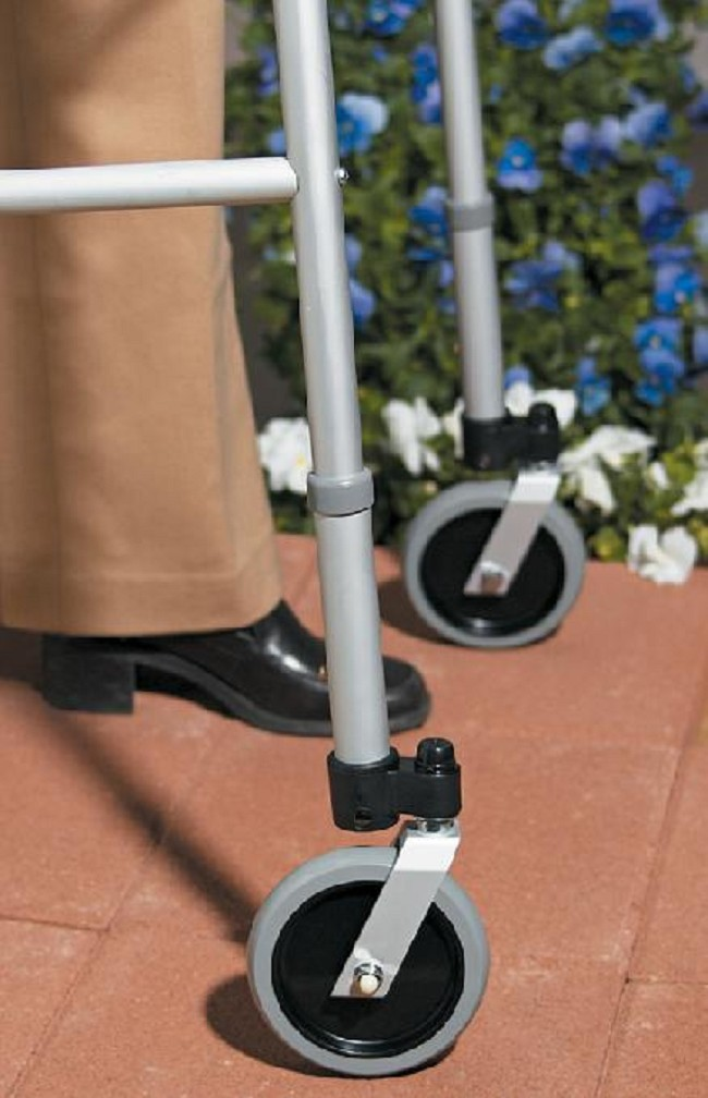 Terrific Guardian 5 In Swivel Caster Walker Wheels By Medline Ibusinesslaw Wood Chair Design Ideas Ibusinesslaworg