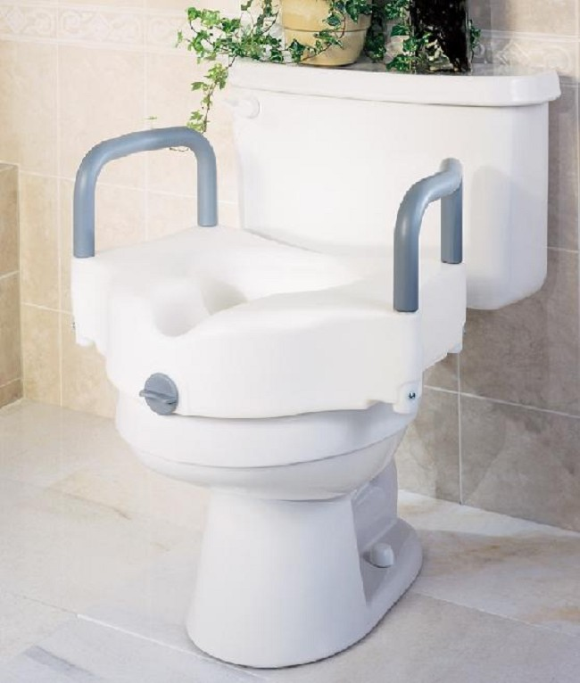 Stupendous Guardian Locking Raised Toilet Seat With Arms By Medline Dailytribune Chair Design For Home Dailytribuneorg