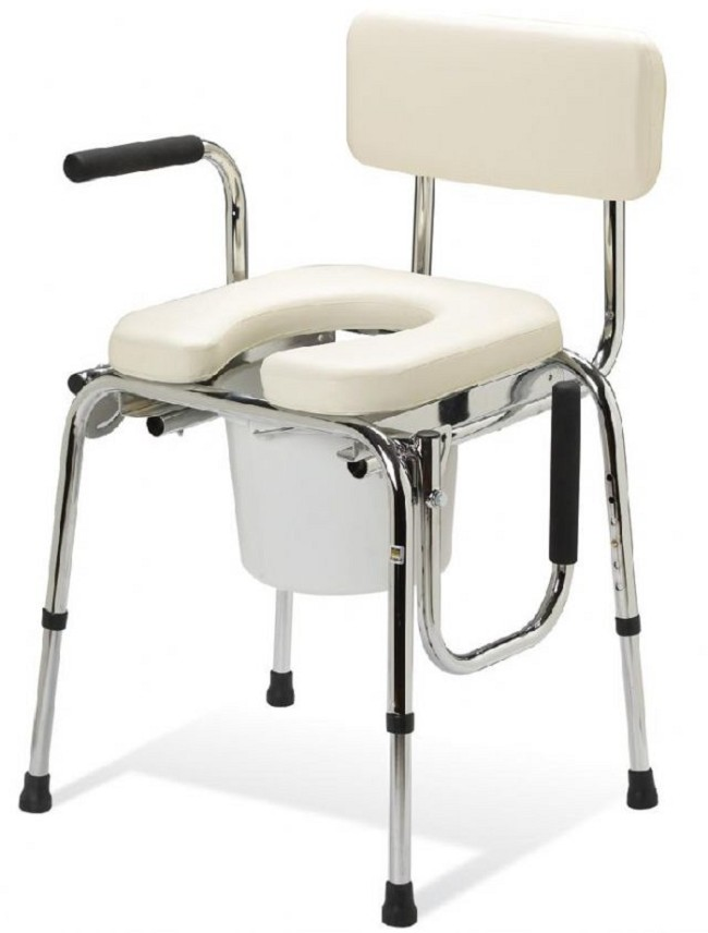 Guardian Padded Drop-Arm Commode - FREE Shipping