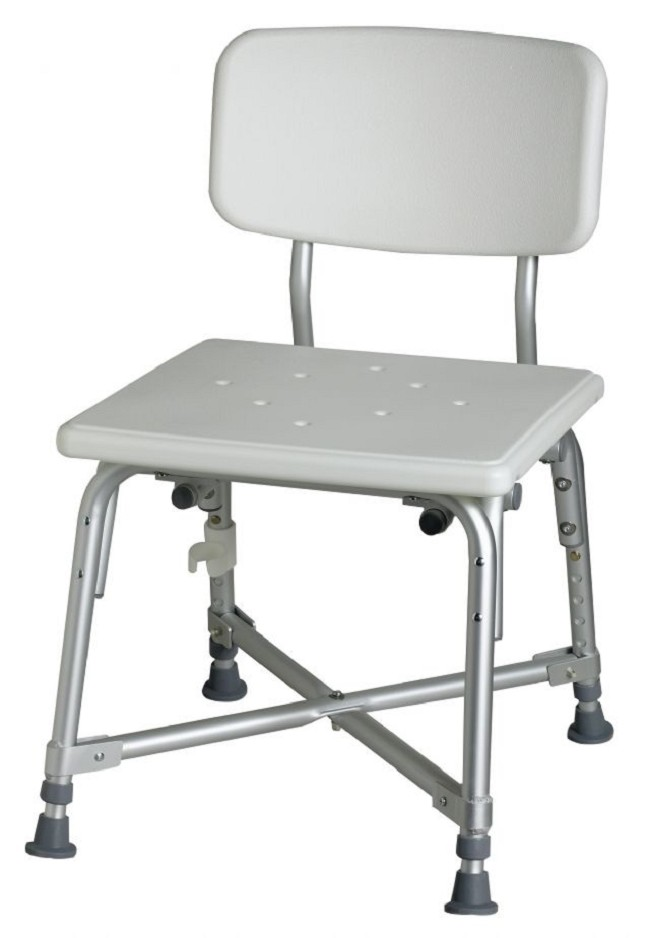 Bariatric Aluminum Bath Bench with Back - FREE Shipping