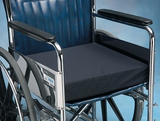 Norco Latex-Free Foam Wheelchair Cushion with Cotton Cover