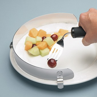 Plates bowls and accessories assistive devices for Handicap kitchen aids