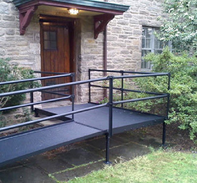National ramp platforms for modular wheelchair ramps for Prefab wheelchair ramp