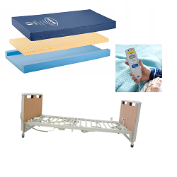 Invacare Etude Electric Hospital Bed & Softform Premier Mattress (Includes ETUDE-HC + IPM1080)