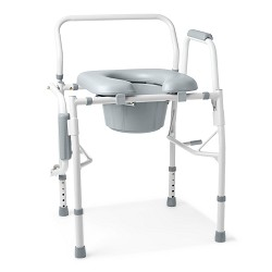 Padded Drop-Arm Commode by Medline