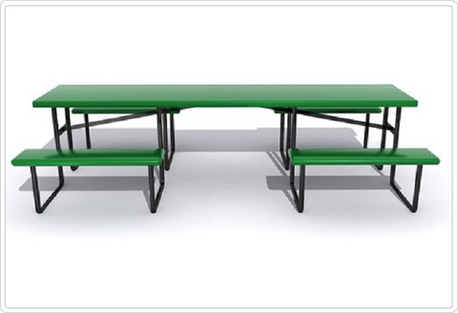 Wheelchair Accessible Picnic Table With Center Entry - Wheelchair picnic table