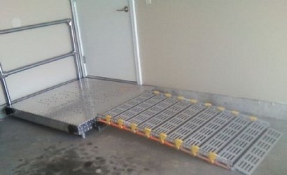 Roll-A-Ramp Wheelchair Ramp Platform with or without Handrails