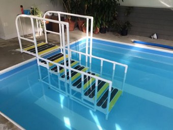 aquatrek non slip pool ladder stairs