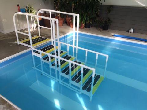 Pool ladders pool steps above ground pool ladders on - Above ground pool steps diy ...