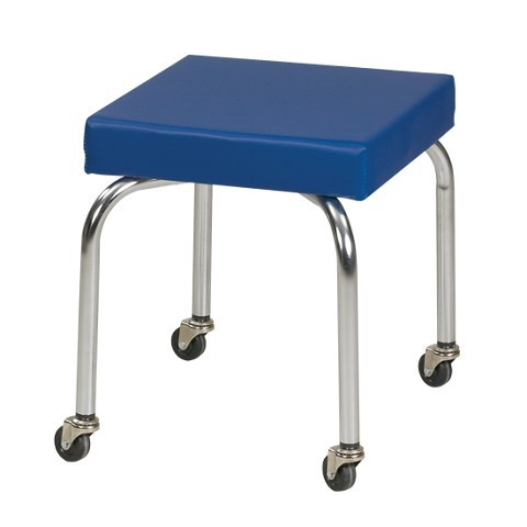 Rolling Pt Scooter Stool With Upholstered Top