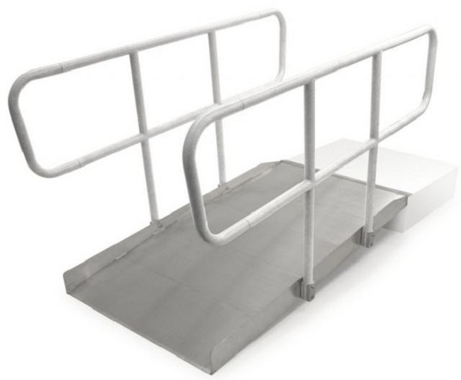 Wheelchair Ramps With Handrails : Ontrac aluminum wheelchair ramp free shipping