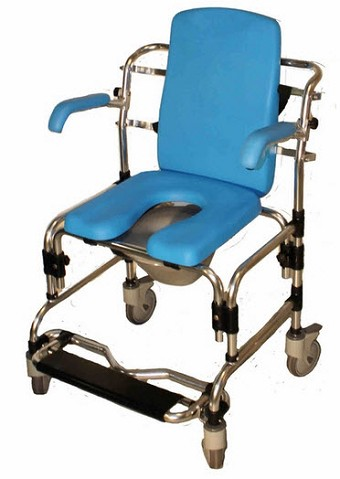 Shower Commode Chair Special Needs Bathroom Shower Wheelchair Toilet Chair