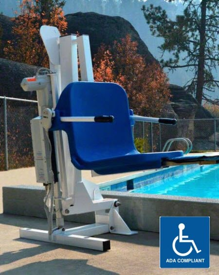 Gallatin water powered pool lift - Swimming pool wheelchair lift law ...