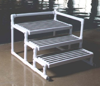 aquatrek pool transfer platform - Above Ground Pool Steps Diy