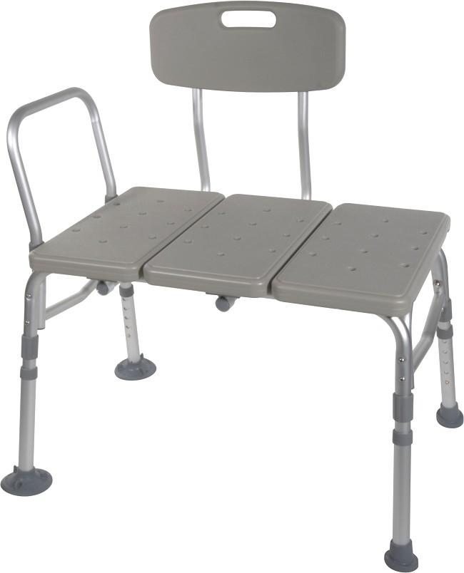 Drive Medical Adjustable Bath Transfer Bench With Backrest