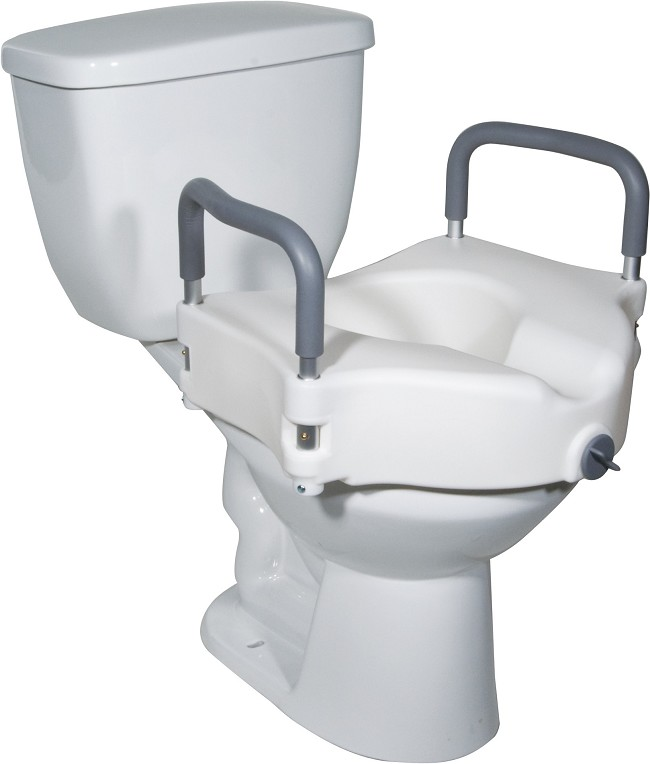 Drive Medical Locking Elevated Toilet Seat With Arms