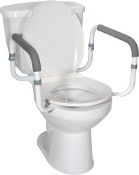 Knocked Down Aluminum Toilet Assist Safety Frame