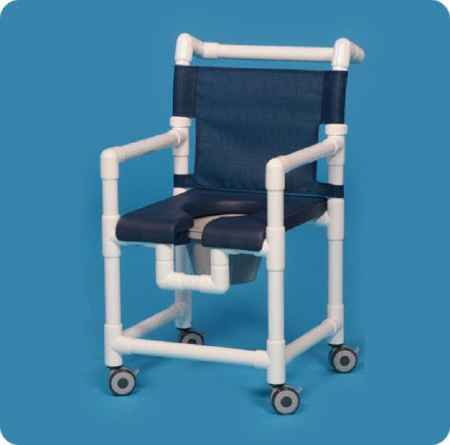 Front Soft Seat Deluxe Shower Chair Commode