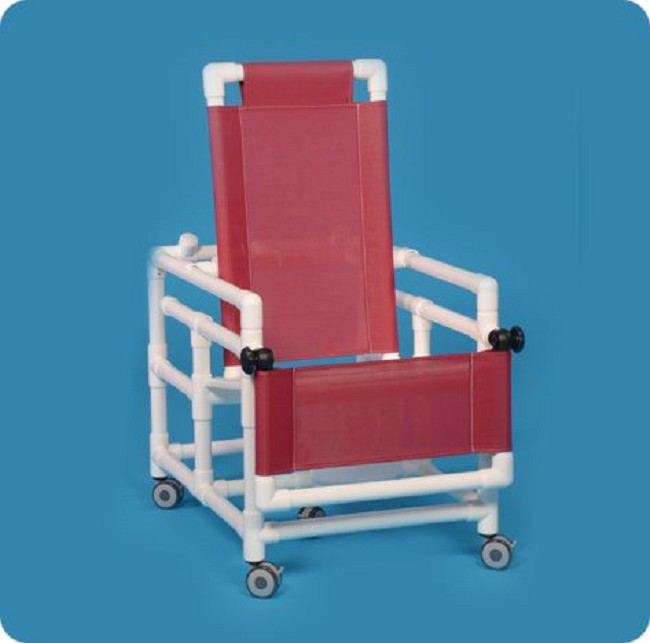 Shower Chair Commode with Flat Seat