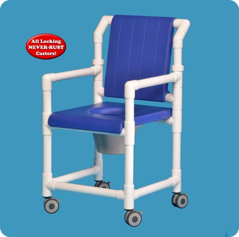closed seat deluxe shower chair commode. Black Bedroom Furniture Sets. Home Design Ideas