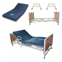 Invacare Etude Electric Hospital Bed, Solace Performance Mattress, & Side Rails Bundle (Includes ETUDE-HC + SKS1080 + ESR-2478)