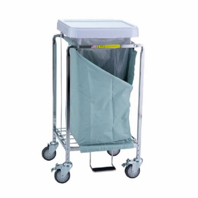 Single Easy Access Laundry Hamper with Foot Pedal