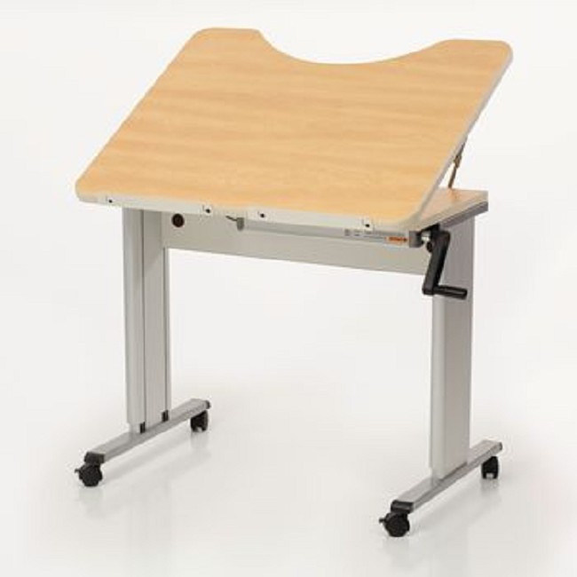 Personal Work Table With Tilt Top And Recess