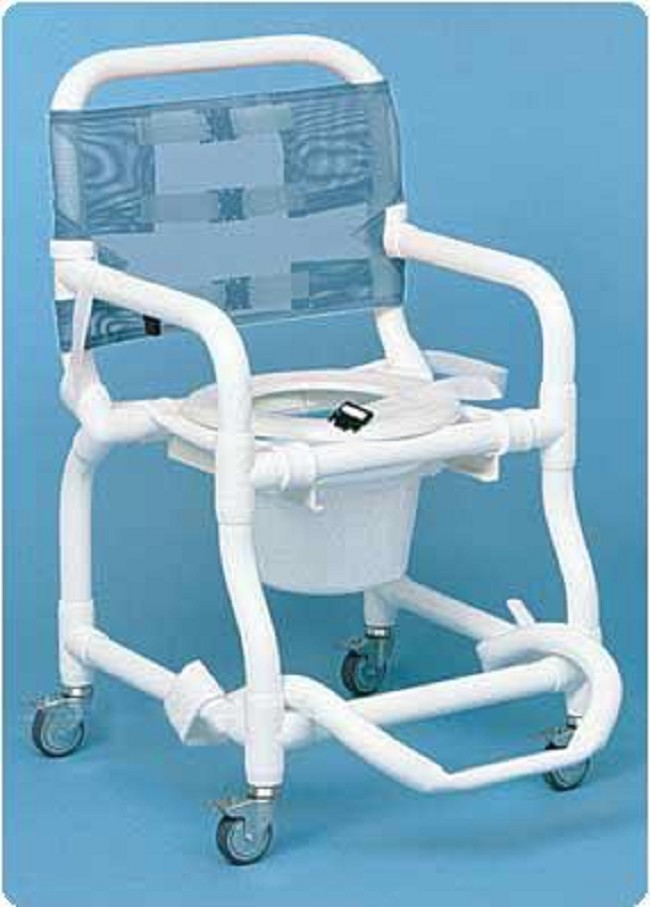 Shower-Commode PVC Toilet Chair - FREE Shipping