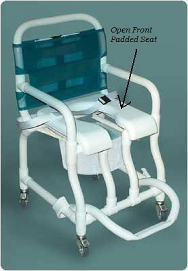 Open Front Padded Seat for Pediatric Shower/Commode Chair