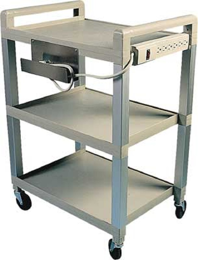 Poly 3 Shelf Easy Roll Cart