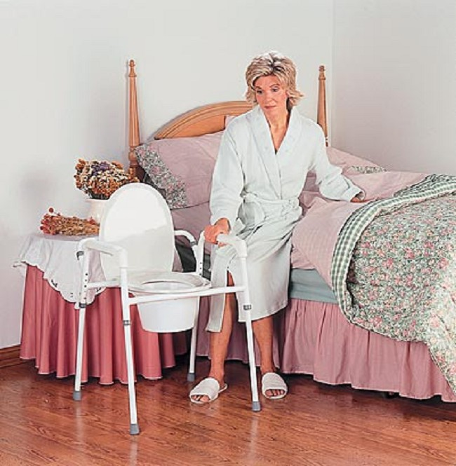 Three In One Bedside Commode With Splash Guard