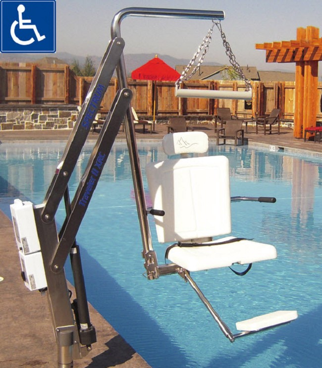 Traveler 500lb ada bariatric pool lift with anchor - Swimming pool wheelchair lift law ...