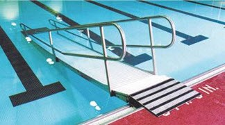 Pool Ramps Pool Steps Swimming Pools Above Ground Pool Ada Compliant Water Access