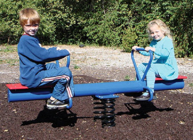 Teeter Spring Rider Seesaw For Outdoor Recreations