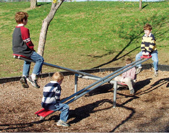 This Favorite Playground Activity Is Updated With A More Durable Secured Design And Allows For Up To Twelve Seesaw Riders Simultaneously