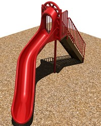 Freestanding Sectional Curved Playground Slide