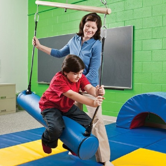 Bolster Swings For Balance Strengthening And Play Therapy
