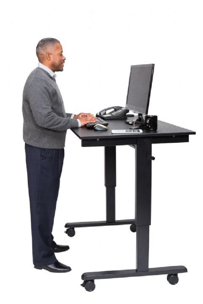 Adjustable Stand Up Desk >> Luxor Crank Adjustable Stand Up Desk Free Shipping