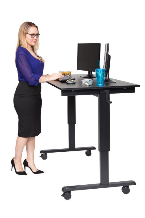 Crank Adjustable Stand Up Desk Free Shipping