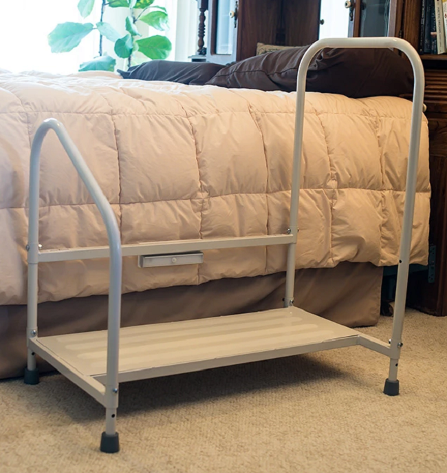 Fine Step2Bed Bedside Stool With Handrails Gmtry Best Dining Table And Chair Ideas Images Gmtryco