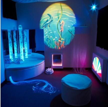 Superactive Sensory Room Lights Bundle With Bubble Tube