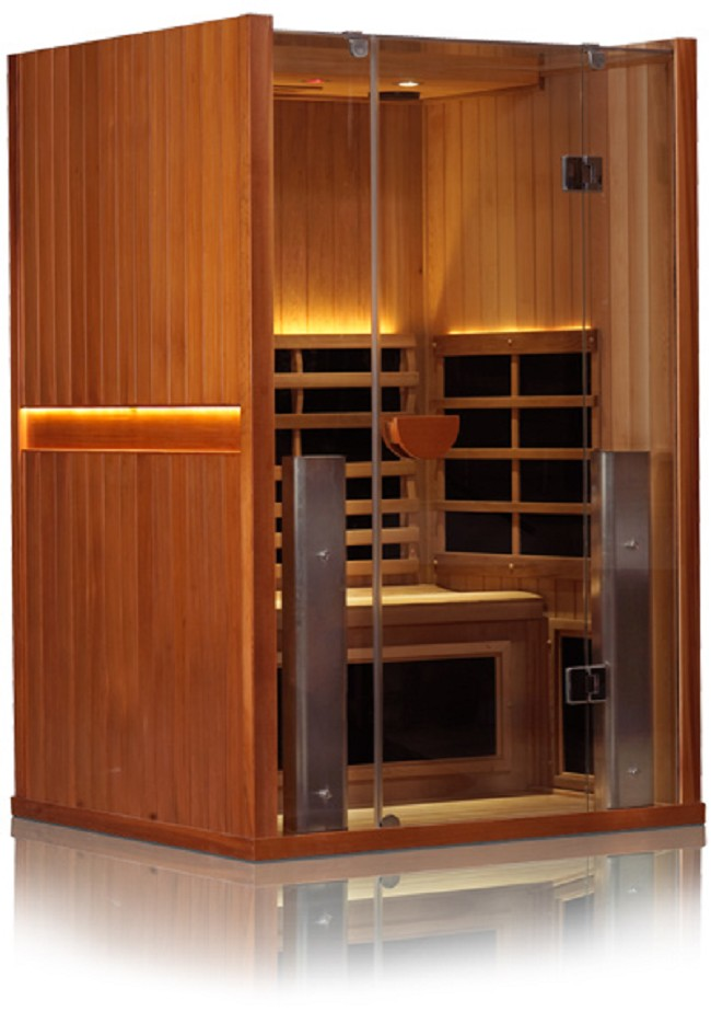 sanctuary 2 person infrared cedar sauna free shipping. Black Bedroom Furniture Sets. Home Design Ideas