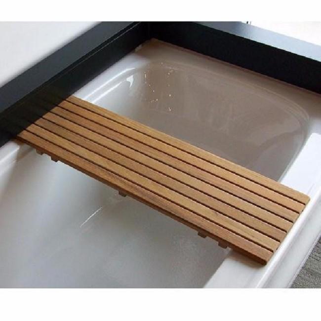 Adjustable Teak Bathtub Bench - FREE Shipping